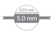 Vinyl floor thickness